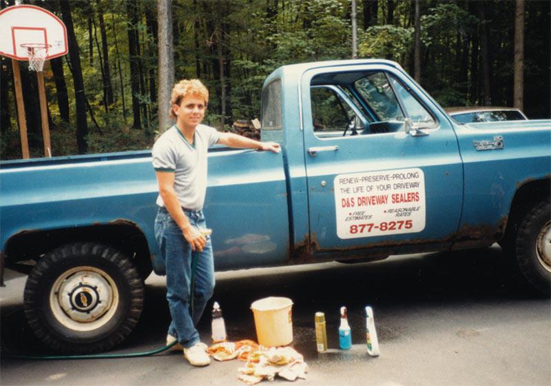 My-first-driveway-sealing-pickup-truck,-1985